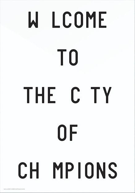 Playtype poster - Welcome To The City Of Champions